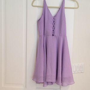 Purple chiffon dress! Perfect for the summer!
